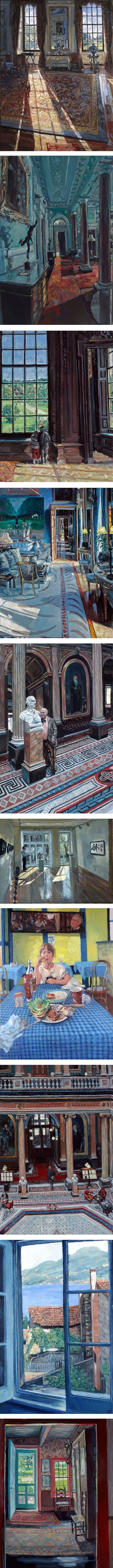 Hector McDonnell, Irish realist painter, room interiors