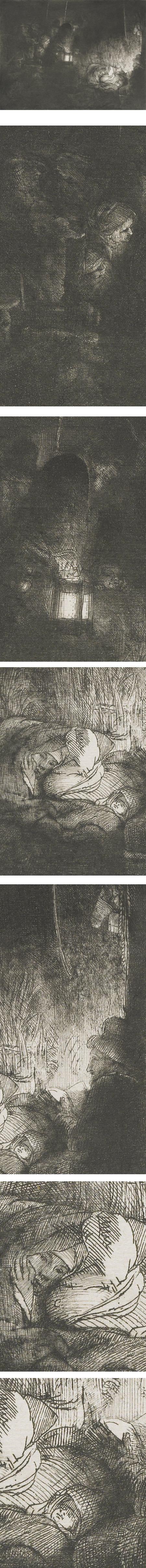 The Adoration of the Shepherds, Rembrandt Harmenz van Rijn