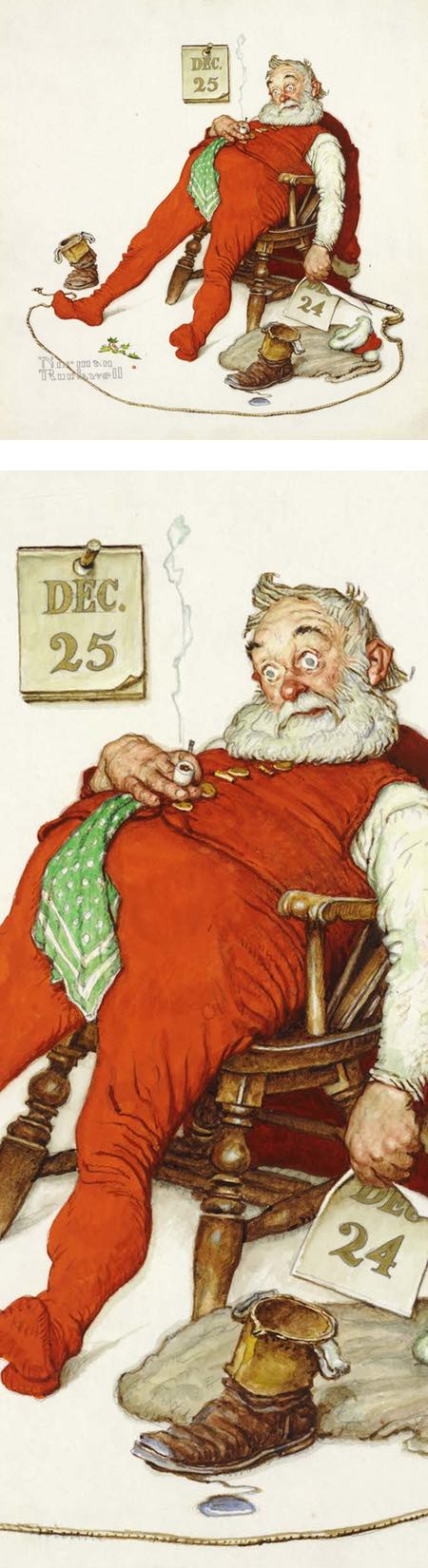 And to All a Good Night, Norman Rockwell
