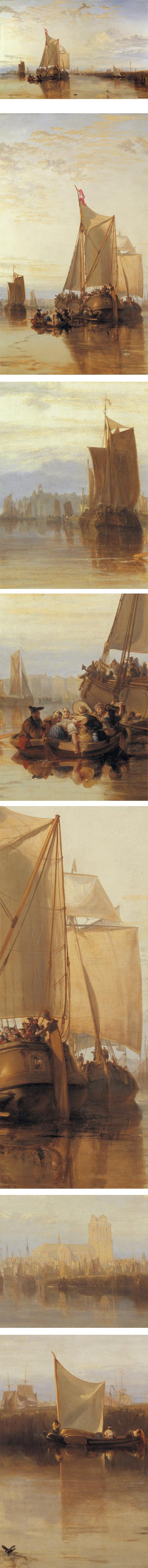 Dortdrecht: The Dort Packet-Boat from Rotterdam Becalmed, J.M.W. Turner