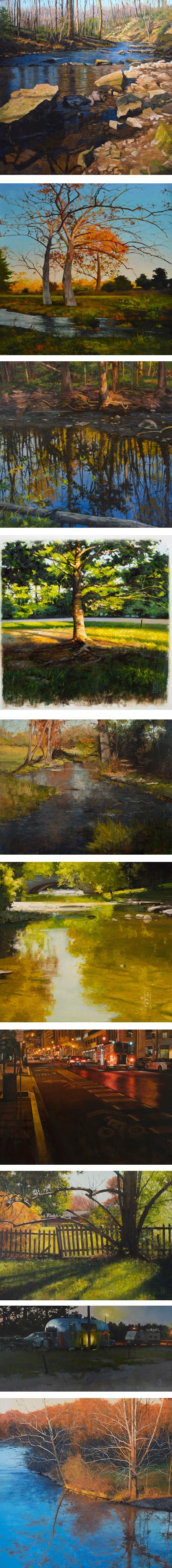 Steven S. Walker, landscape paintings
