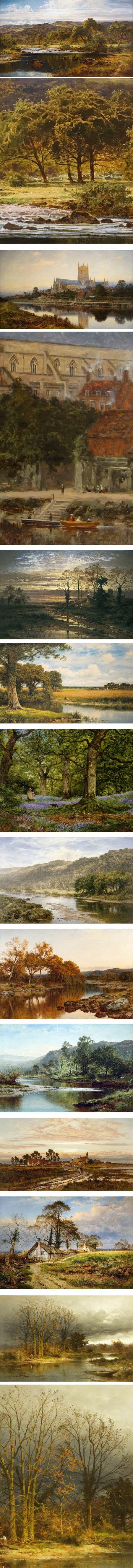 Benjamin Williams Leader, English landscape painter