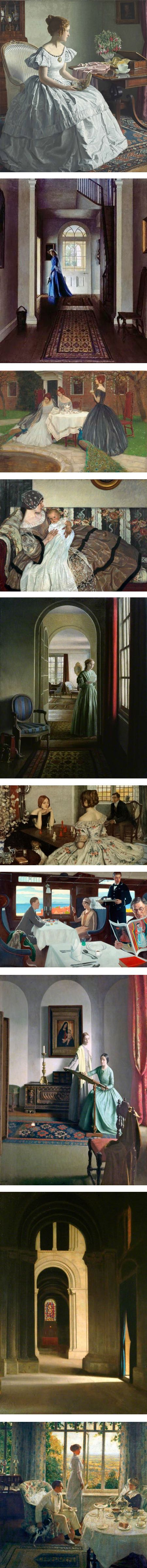 Leonard Campbell Taylor, British painter, portraits and figures in interiors