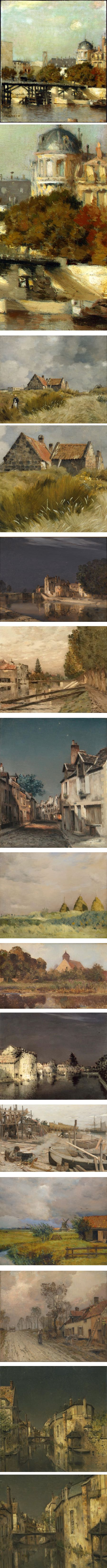 Jean-Charles Cazin, 19th century French landscapes and cityscapes, 19th century French landscapes