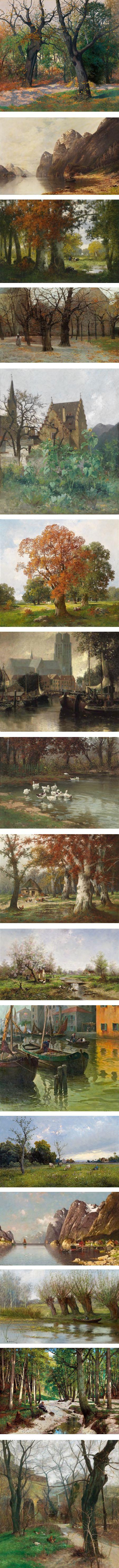 Adolf Kauffmann, landscape paintings
