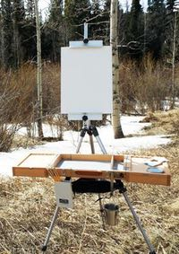 Guerrilla Painter Flex Easel and Campaign Box plein air sytem