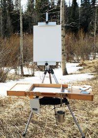 Guerrilla Painter Flex Easel and Campaign Box plein air sytem