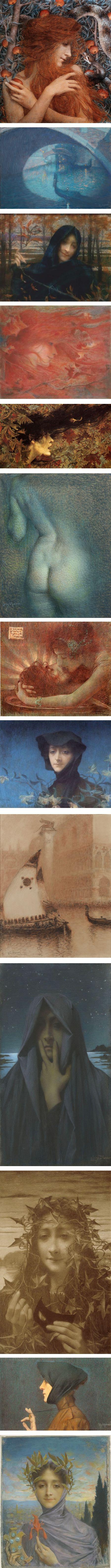 Lucien Levy-Dhurmer, symbolist Artnouveau pastelstyles