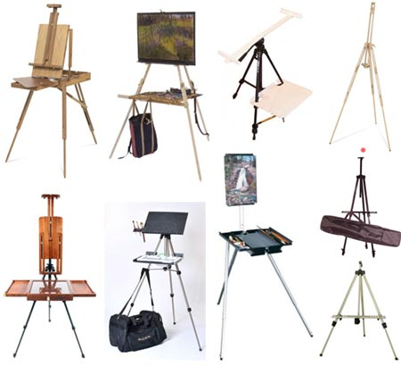 French (Box) Easels, Field Easels and Other Plein Air Painting Systems