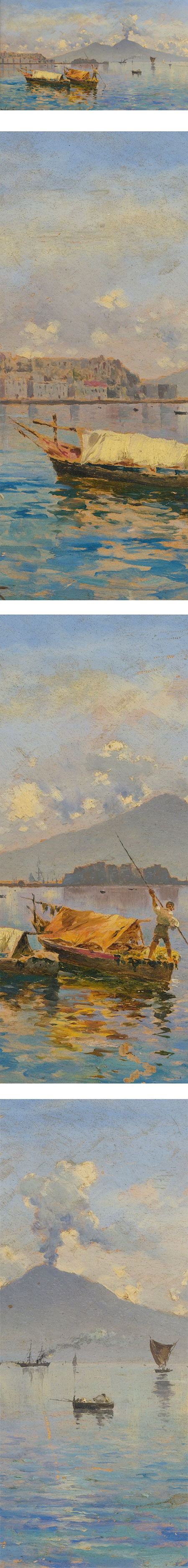 View of Naples by Antonino Leto