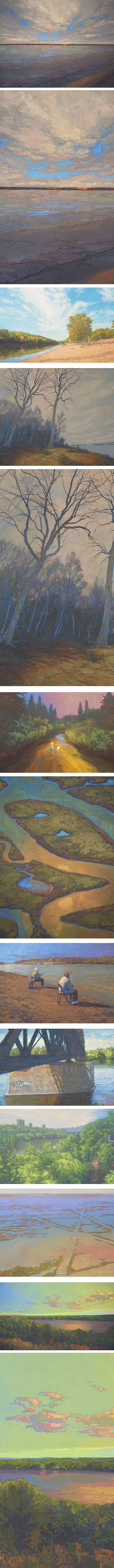 Thomas Paquette – Americas River Re-Explored, paintings of the Mississippi River