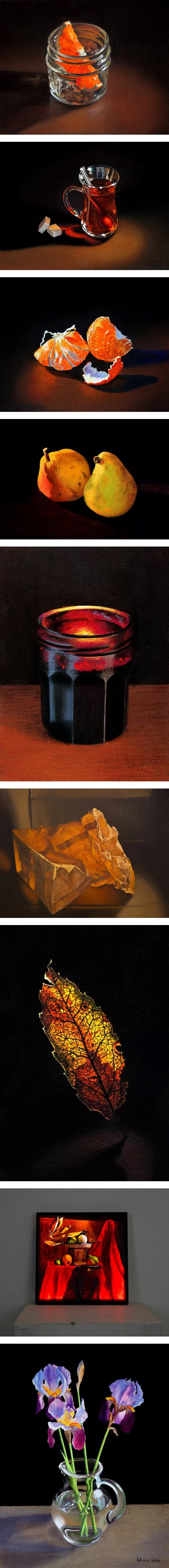 Rebecca GIles, still life paintings