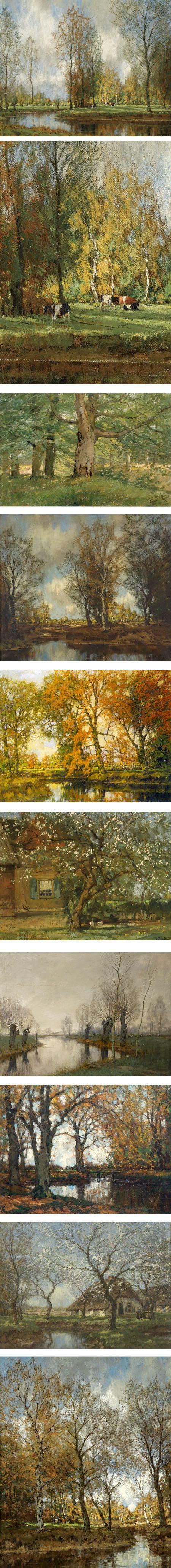 Arnold Marc Gorter, Dutch landscape painter