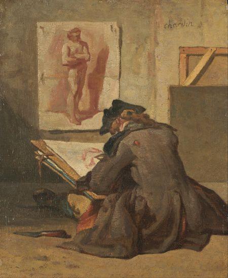 Young Student Drawing, Jean-Baptiste-Simeon Chardin