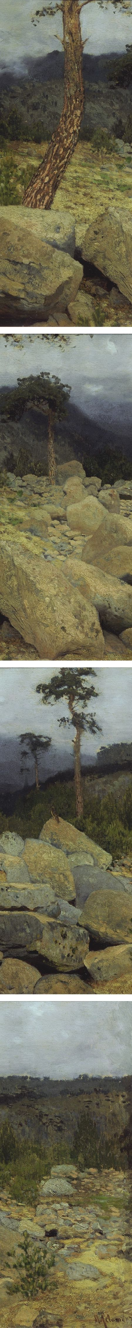 n the Crimean Mountains, Isaac Ilich Levitan (details)