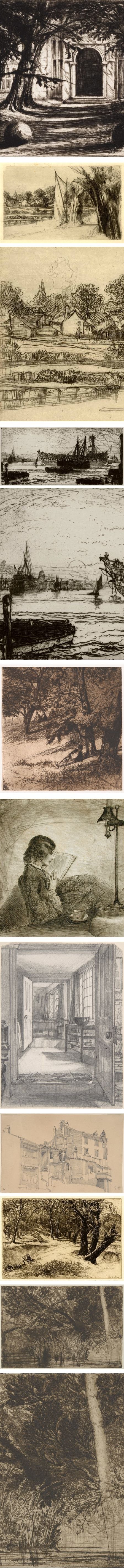 Francis Seymour Haden, etchings and drawings