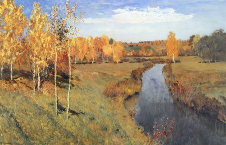 Golden Autumn (Zolotaya Osen), Isaac Levitan