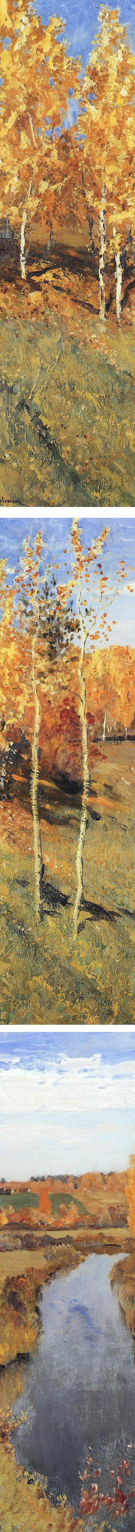 Golden Autumn (Zolotaya Osen), Isaac Levitan (details)