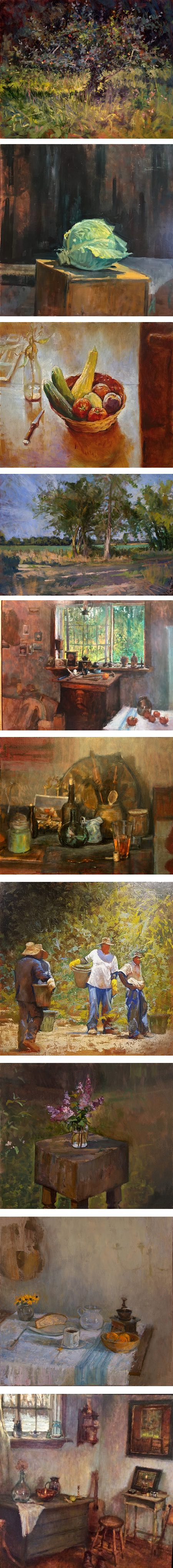 Michael Doyle, still life, interiors and landscape