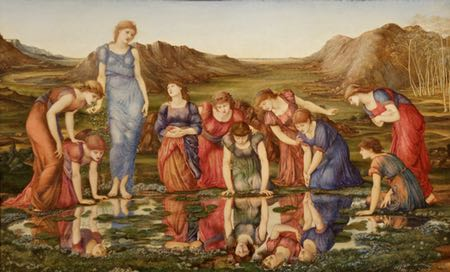 The Mirror of Venus, Edward Burne-Jones