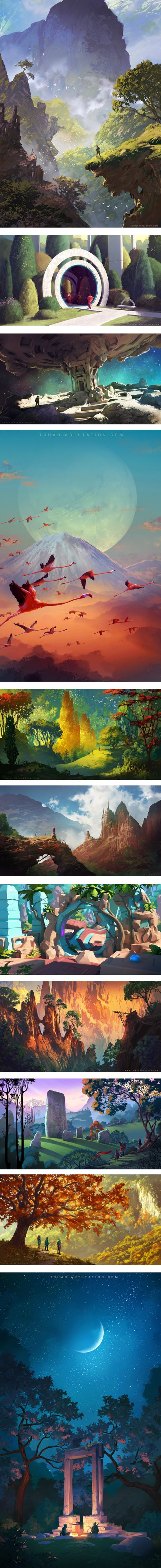 Sylvain Sarrailh, concept art, environments, illustration