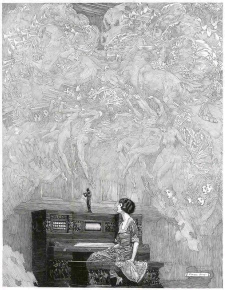 Franklin Booth pen and ink advertising illustration