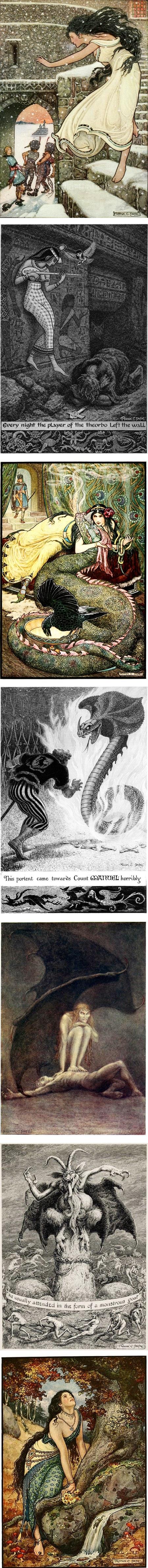 Frank C. Pape classic illustration