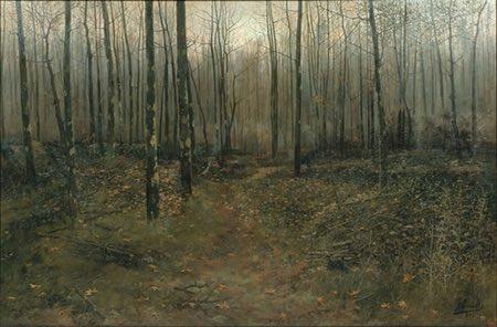 February, Joaquim Vancells, landscape painting