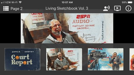 James Gurney's Living Sketchbook, Volume 3 - Court Report