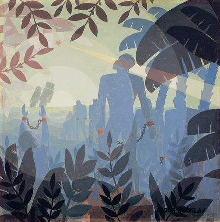 Aaron Douglas, African American artist, painter, illustrator and muralist