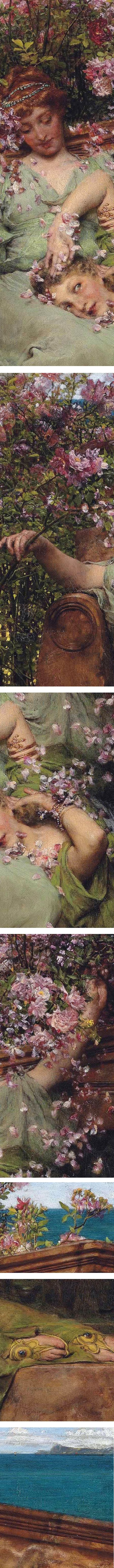 In a Rose Garden, Lawrence Alma Tadema