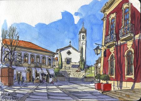 Paulo J. Mendes, urban sketching