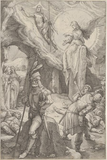 The Resurrection, from The Passion of Christ, Hendrik Goltzius, engraving