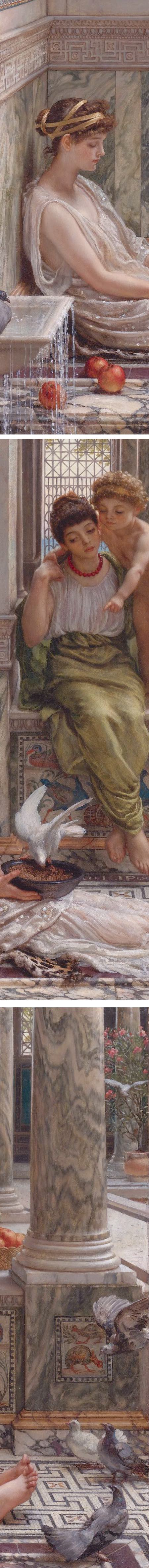 The corner of the villa, by Edward John Poynter (details)