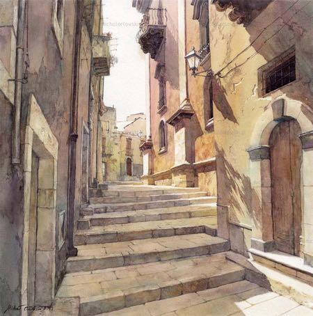 Michal Orlowski, watercolor