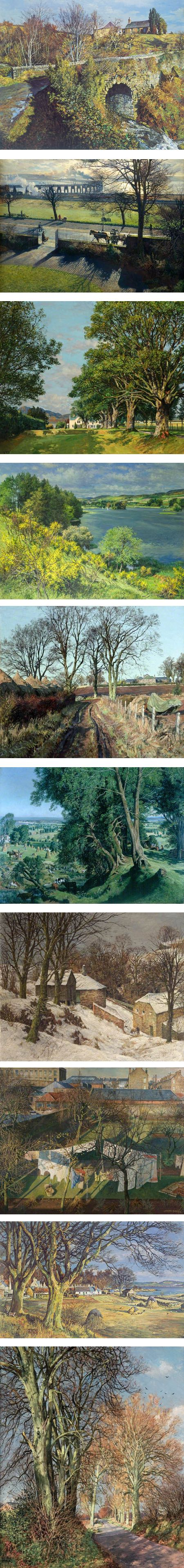 James McIntosh Patrick, Scottish landscape paintings