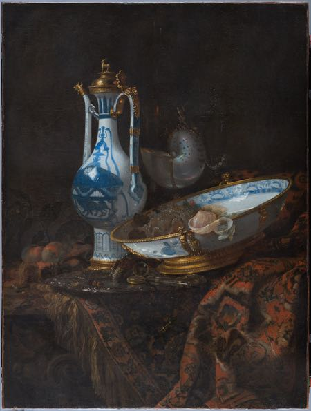 Willem Kalf, Still Life with Ewer and Basin, Fruit, Nautilus Cup and other Objects