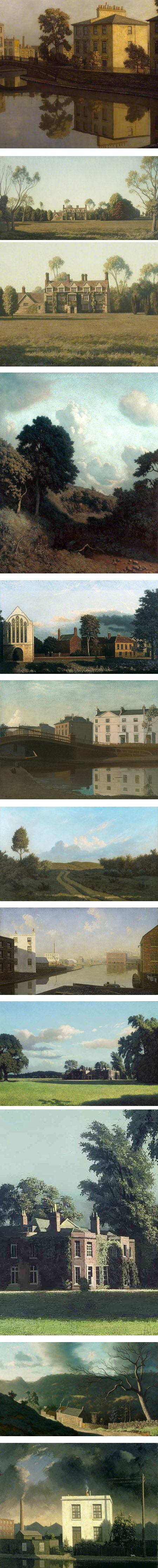 Algernon Newton paintings cityscapes