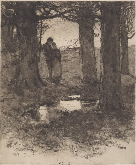 An Evening Walk, William Langson Lathrop, etching and drypoint