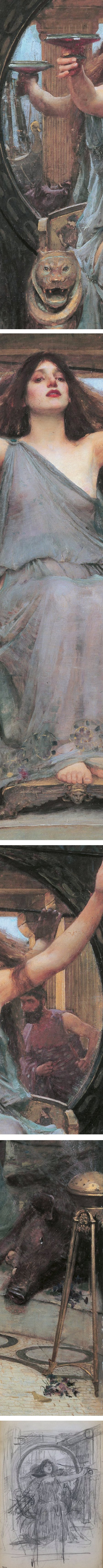 Circe Offering the Cup to Ulysses (details), John William Waterhouse