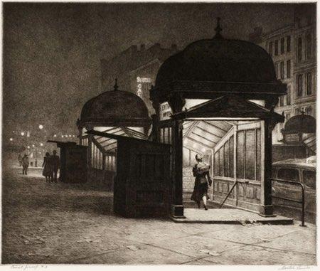 Martin Lewis, etching