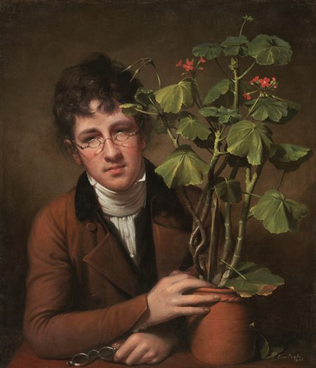 Rubens Peale with a Geranium, Rembrandt Peale