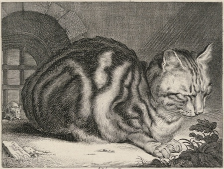 Cornelis Visscher, The Large Cat, engraving