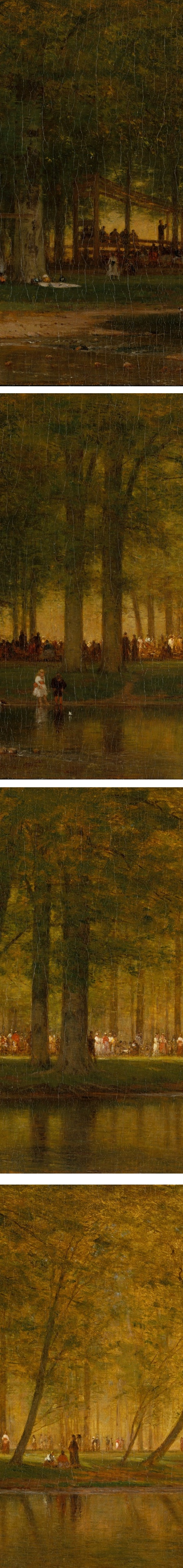 Eye Candy for Today: The Camp Meeting, Worthington Whittredge – Lines and Colors