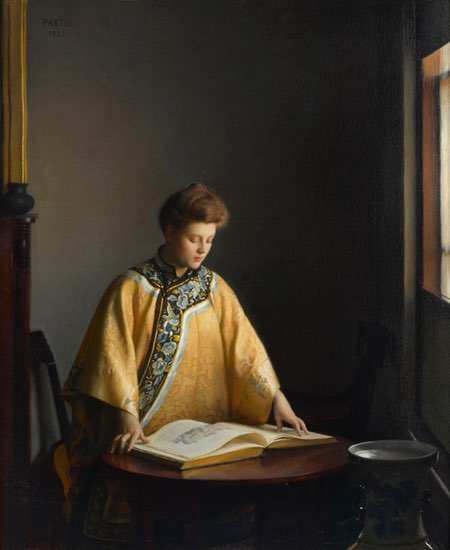 The Yellow Jacket, William McGregor Paxton, oil on canvas