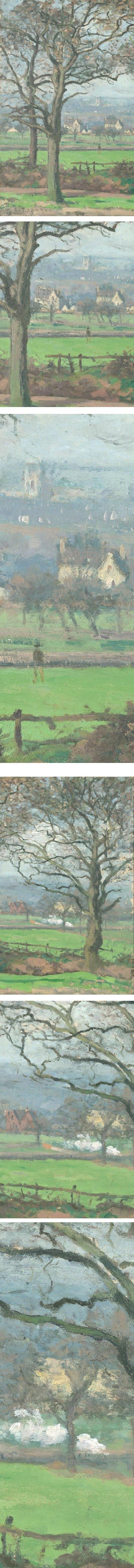 Near Sydenham Hill, Camille Pissarro (details)