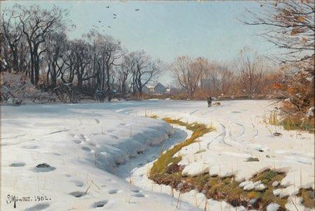 Peder Mork Monsted, Sunny Winter Day (Ein sonniger Wintertag)