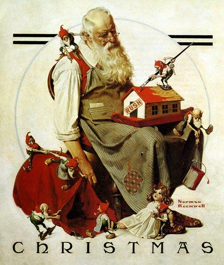 Norman Rockwell Santa