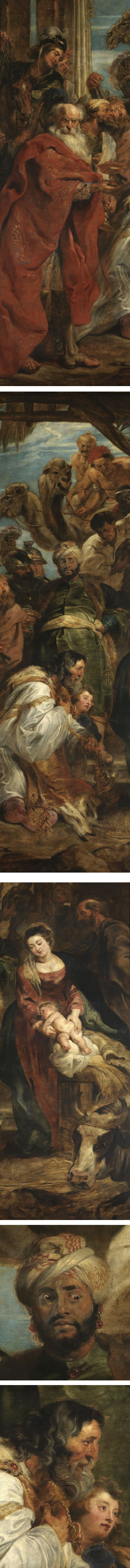 Adoration of the Magi, Peter Paul Rubens (details)