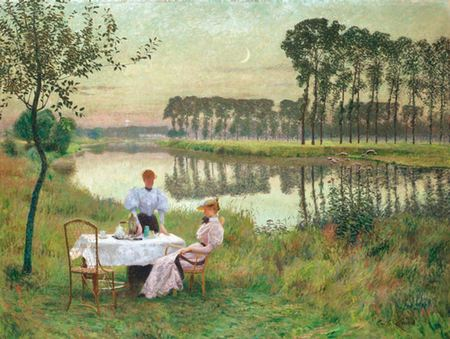 Summer Evening by Emile Claus